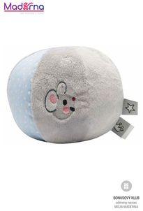 Bébé-Jou šuštiaca plyšová lopta myška Little Mice