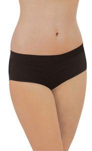 Bezšvové nohavičky z organickej bavlny čierne Carriwell