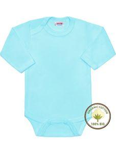 BIO body s dlhým rukávom New Baby modré - Modrá