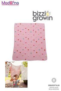 BIZZ GROWIN Tick Tock Pletená deka