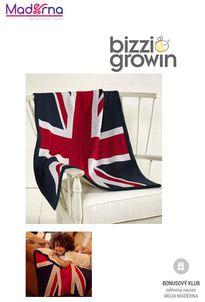 Bizz Growin Union Jack Pletená deka
