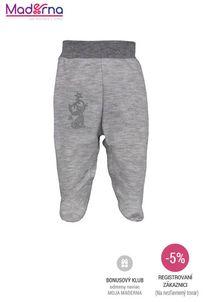 Bobas Fashion - Dojčenské bavlnené polodupačky Strieborná Mačka sivé