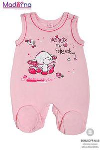 Bobas Fashion Dojčenské dupačky Benjamin ružové