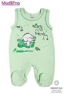 Bobas Fashion Dojčenské dupačky Benjamin zelené
