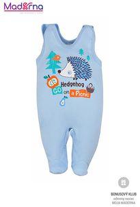 Bobas Fashion Dojčenské dupačky Ježko modré