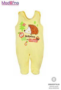 Bobas Fashion Dojčenské dupačky Ježko žlté
