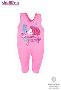 Bobas Fashion Dojčenské dupačky Ježko ružové