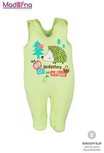 Bobas Fashion Dojčenské dupačky Ježko zelené
