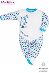 Bobas Fashion Dojčenský overal Baby Beti modrý