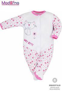 Bobas Fashion Dojčenský overal Baby Beti ružový