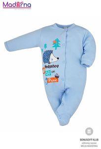 Bobas Fashion Dojčenský overal Ježko modrý