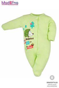 Bobas Fashion Dojčenský overal Ježko zelený
