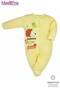 Bobas Fashion Dojčenský overal Ježko žltý