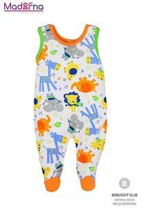 Bobas Fashion Zoo Dojčenské dupačky oranžové