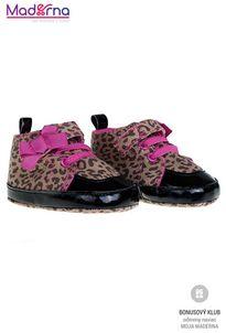 Bobo Baby Detské topánočky hnedé so vzorom