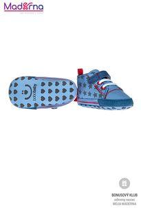 Bobo Baby Detské topánočky modré s hviezdičkami