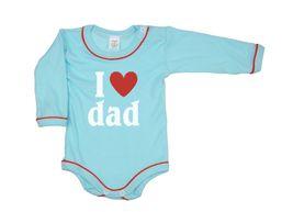 Body dlhý rukáv - I ♥ Dad tyrkysové Antony