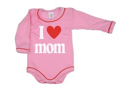 Body dlhý rukáv - I ♥ Mom ružové Antony