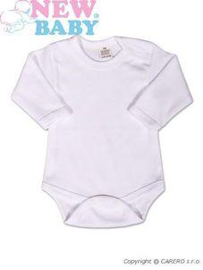 Body dlhý rukáv New Baby - biele - Biela