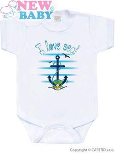 Body s potlačou New Baby Marine modré - Modrá