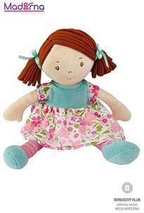 Bonikka látková bábika 25cm malá Katy, ružovo-modré šaty