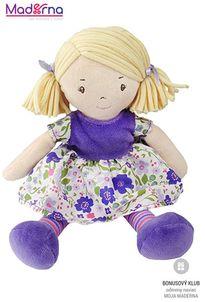 Bonikka látková bábika 25cm malá Peggy fialové šaty