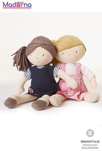 Bonikka látková bábika 32 cm Rose, ružové šaty