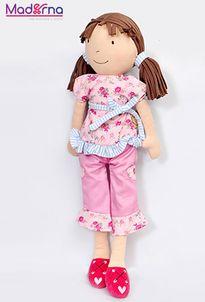 Bonikka látková bábika 42 cm Whitney ružová súprava