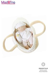 Bonikka Látková bábika v košíku 24 cm