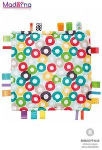 Bright starts Dečka maznacia Little Taggies krúžky 30x30cm, 0m+