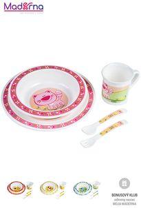 Canpol babies Plastová obedová súprava Zvieratko (tanier, miska, hrnček, príbor)