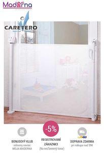 Caretero - Detská bezpečnostná zábrana textilná, biela