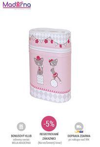 CEBA BABY - DVOJOBAL TERMOOBAL NA KOJENECKÉ FĽAŠE - ružové mačičky