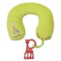 VULLI - Cestovný vankúšik s hryzátkom žirafkou
