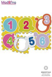 Chicco Penové puzzle Čísla 30x30cm 6ks