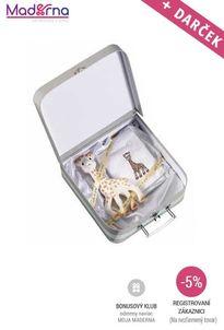 VULLI - Darčekový kufrík žirafka + DARČEK uteráčik