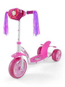 Detská kolobežka Milly Mally Crazy Scooter pink Kitty - Ružová