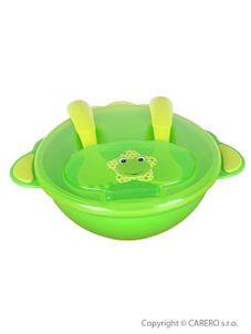 Detská miska s lyžičkou a vidličkou Akuku - Zelená