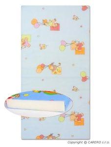 Detská penová matrac modrá - rôzne obrázky - Modrá