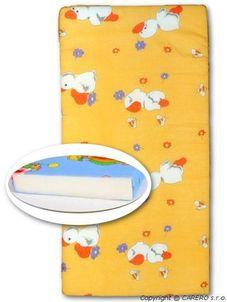 Detská penová matrac oranžová - rôzne obrázky - Oranžová