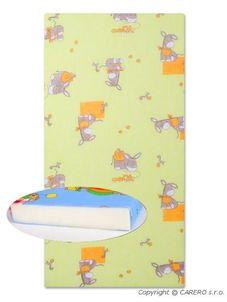 Detská penová matrac zelená - rôzne obrázky - Zelená