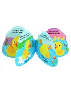 Detská pískacia knižka do vody Baby Mix kačička - Podľa obrázku