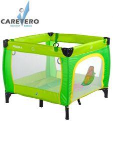 Detská skladacia ohrádka Caretero Quadra zelená