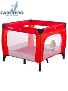 Detská skladacia ohrádka Caretero Quadra červená