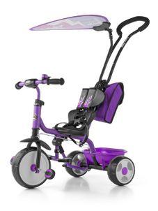 Detská trojkolka Milly Mally Boby Delux 2015 purple - Fialová
