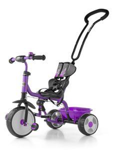 Detská trojkolka so zvončekom Milly Mally Boby 2015 purple - Fialová