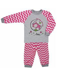 Detské bavlnené pyžamo Koala Cik-Cak ružové - Ružová