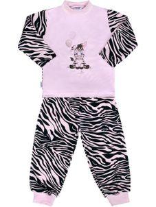 Detské bavlnené pyžamo New Baby Zebra s balónikom ružové - Ružová