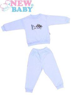 Detské froté pyžamo New Baby modré - Modrá