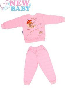 Detské froté pyžamo New Baby ružové - Ružová